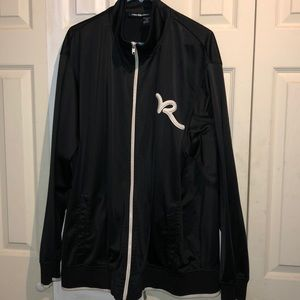 ROCAWEAR Full Zip Jacket Black w/ White Embroidery